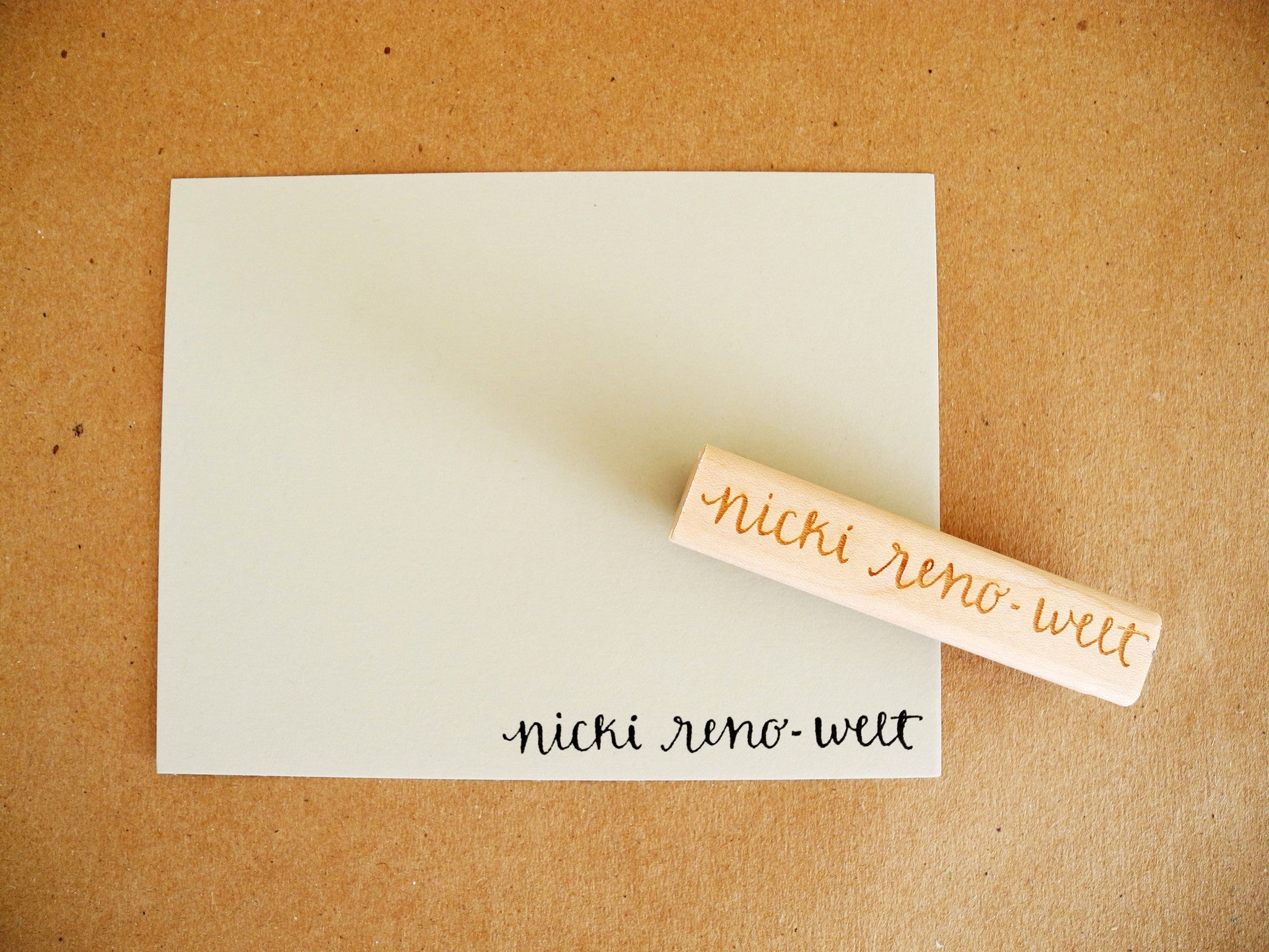 Personalized Calligraphy Name Or Address Stamp Paper