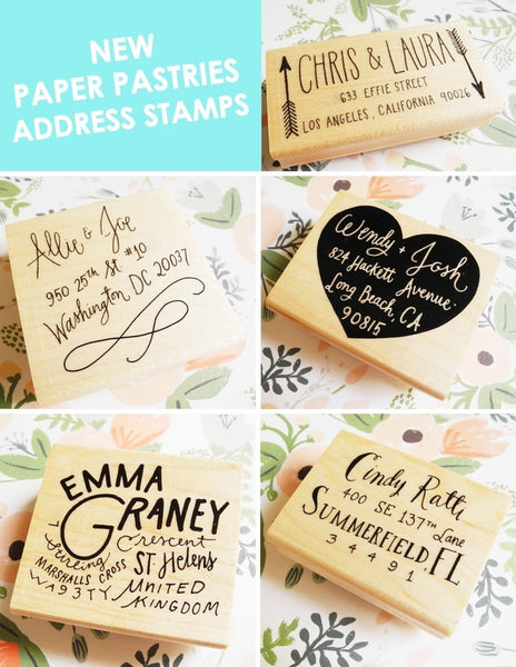 Custom Hand Lettered Return Address Stamp