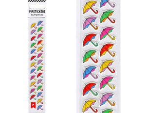CUTE MINI COLORFUL PARASOL STICKERS