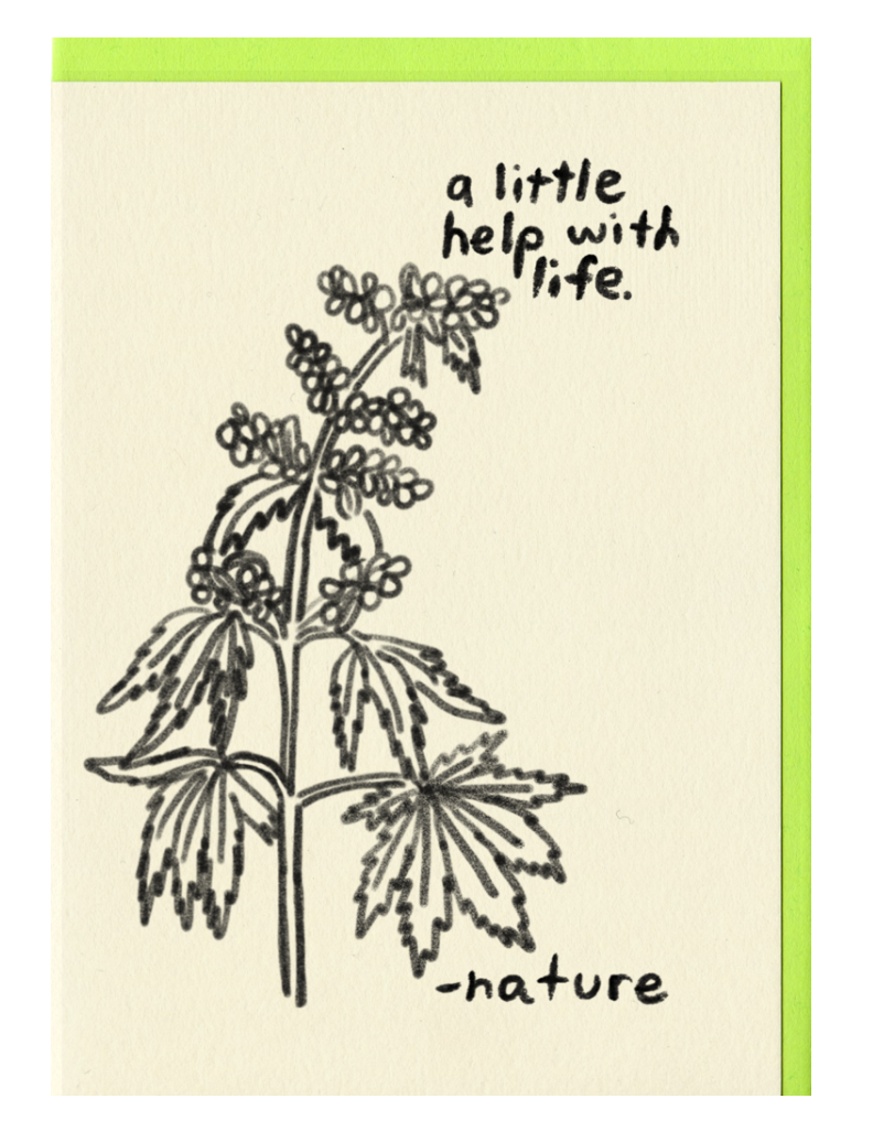 Weed NATURE CARD