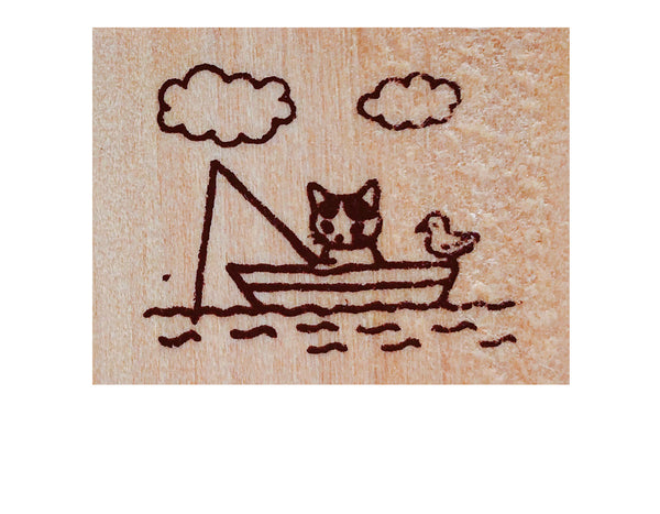 Pottering Cat Rubber Stamps
