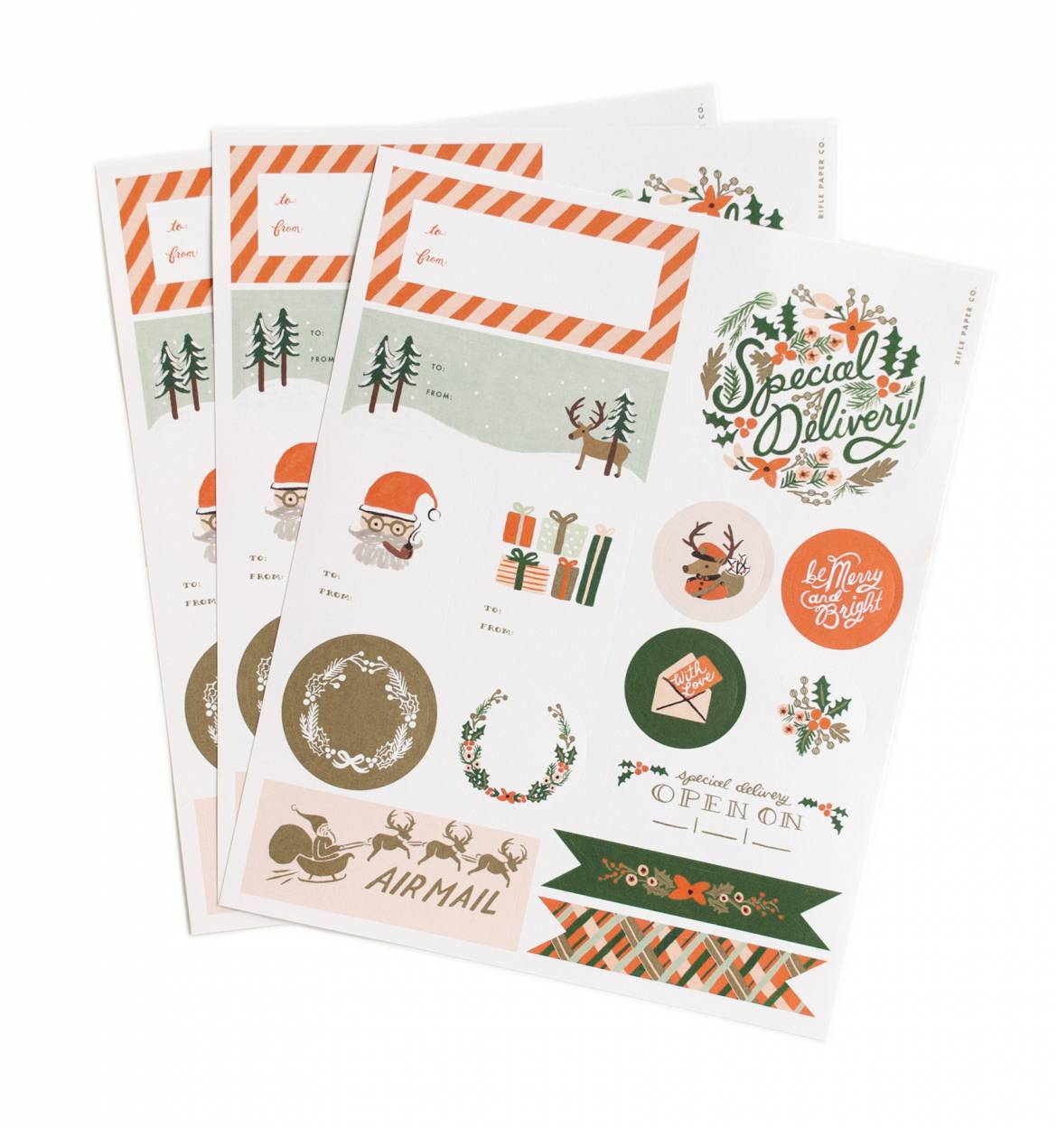 Rifle Paper Co Winter Holiday Gift Stickers