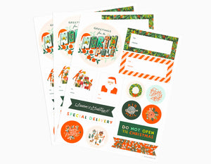 Rifle Paper Co Seasons Greetings Holiday Gift Stickers