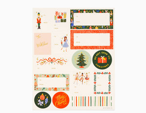 Rifle Paper Co Nutcracker Holiday Gift Stickers