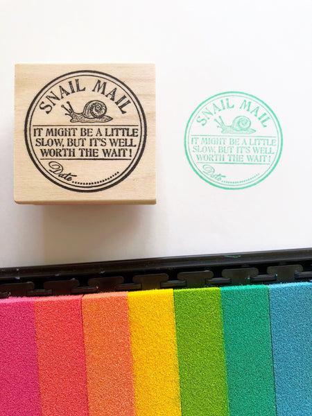 Round Letter Seal Rubber Stamps