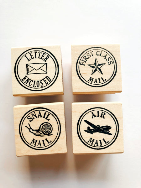 Round Snail Mail Stamps