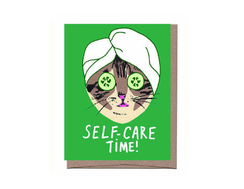Self-Care Cat Card