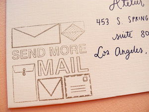 Send More Mail Envelopes Rubber Stamp