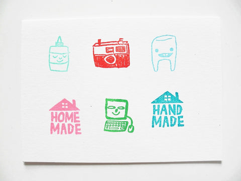 Small Object Single Rubber Stamp