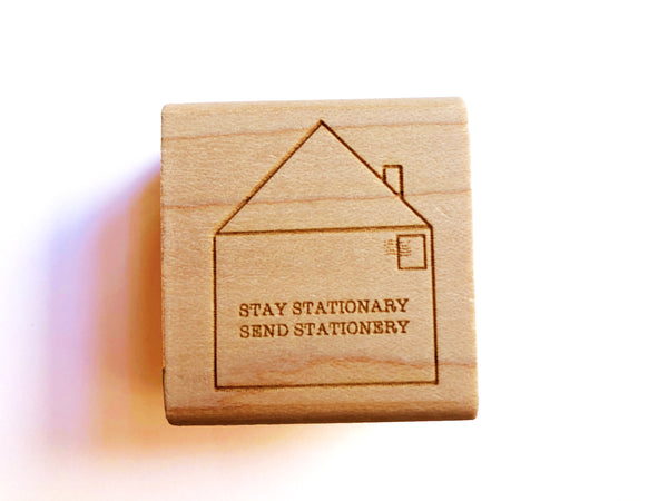 Stay Stationary Send Stationery Rubber Stamps
