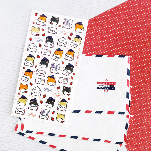Puppy Love Letters Stickers