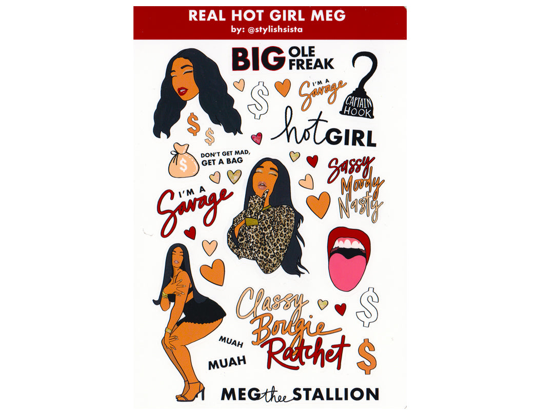 Meg Thee Stallion Sticker Sheet