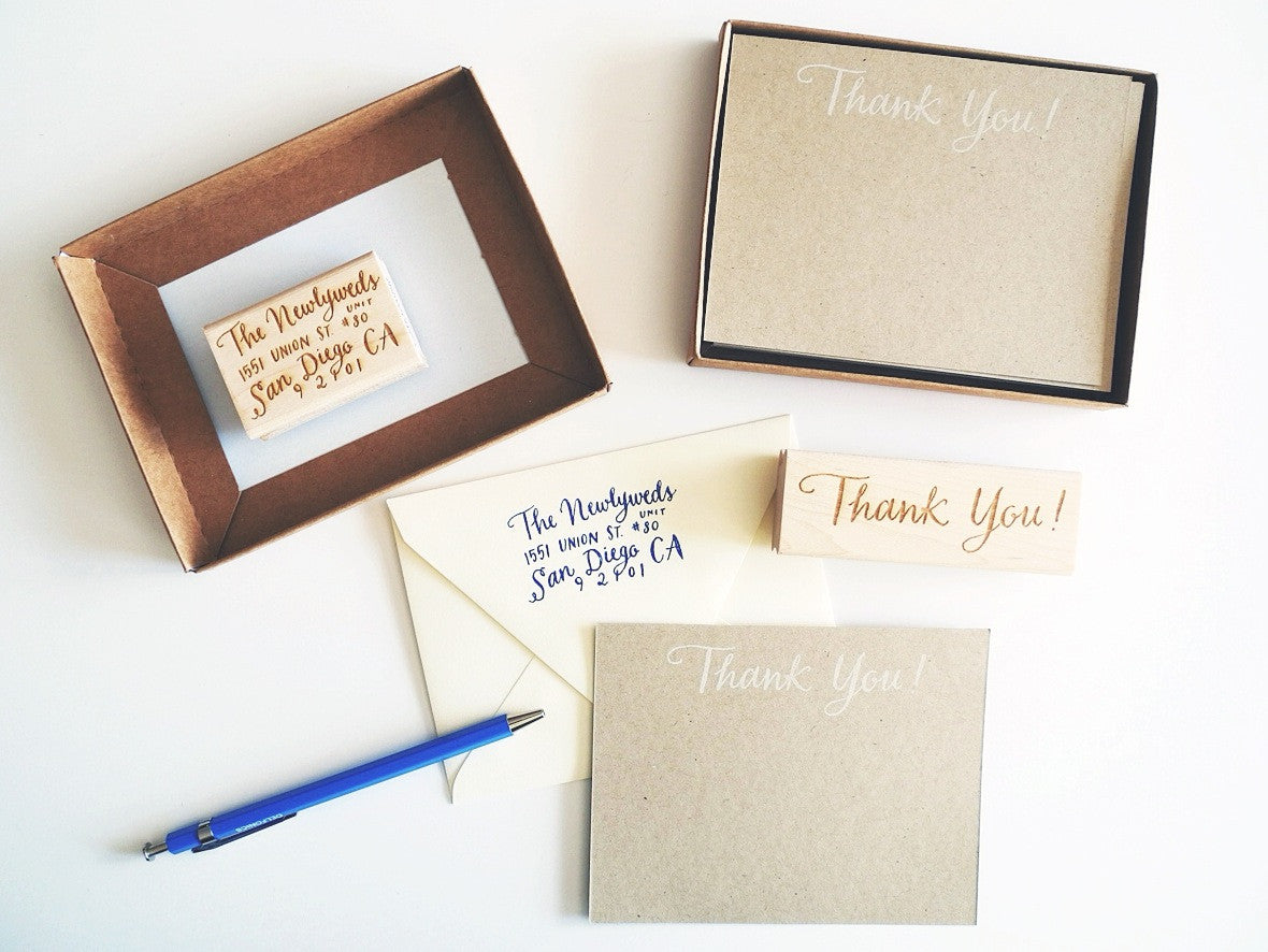 Custom Calligraphy Thank You Kit