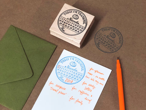 Today I'm Thankful Rubber Stamp