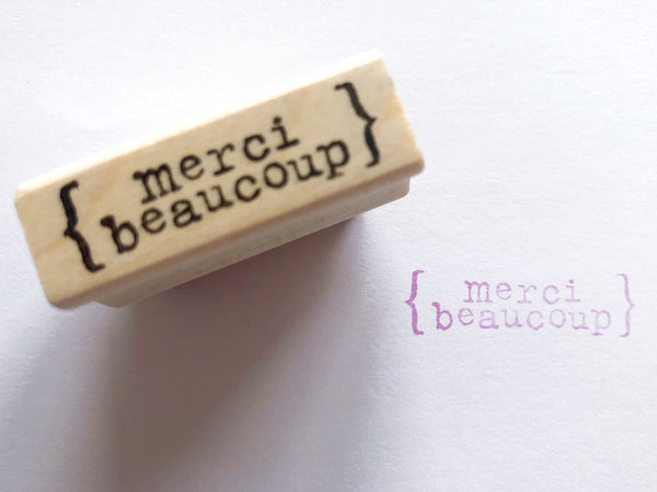 Tiny Message Rubber Stamps