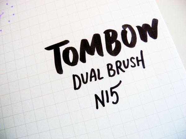 Tombow Brush pen - AB-T Dual Tip Brush and Fine Tip - Bujo Supplies - Bullet Journal Stationery - Hand lettering calligraphy- N15