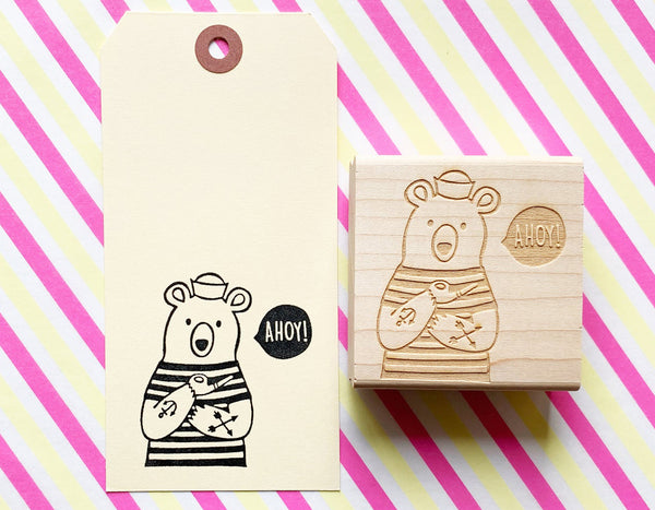 sailor polar bear ahoy rubber stamp by talk to the sun in Japan