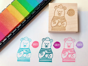 ahoy bear rubber stamp by talk to the sun
