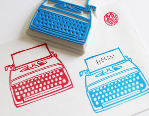 vintage typewriter stamp | retro rubber stamp |  stamp for snail mail, bullet journal, card making, block printing - TALK TO THE SUN