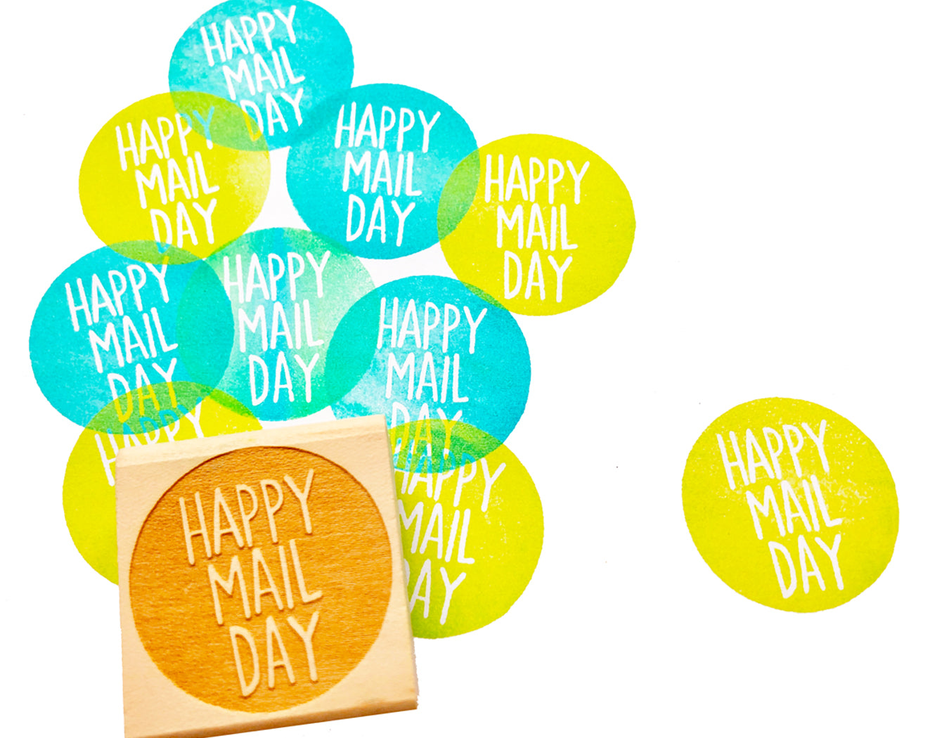 happy mail day rubber stamp | snail mail stamp | packaging stamp | calligraphy stamp for shipping, mailing, business packaging- TALK TO THE SUN