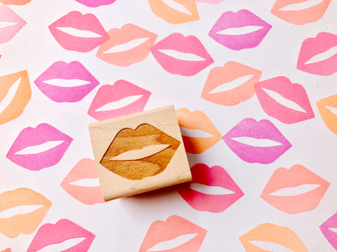 lips rubber stamp | kiss stamp | face stamp | stamp for diy valentine, birthday, card making, art journal, block printing- TALK TO THE SUN