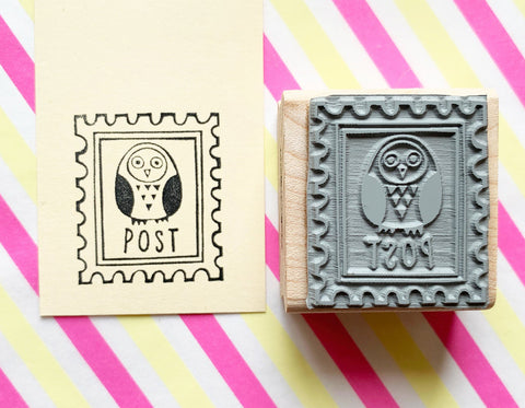 Owl rubber stamp from talk to the sun