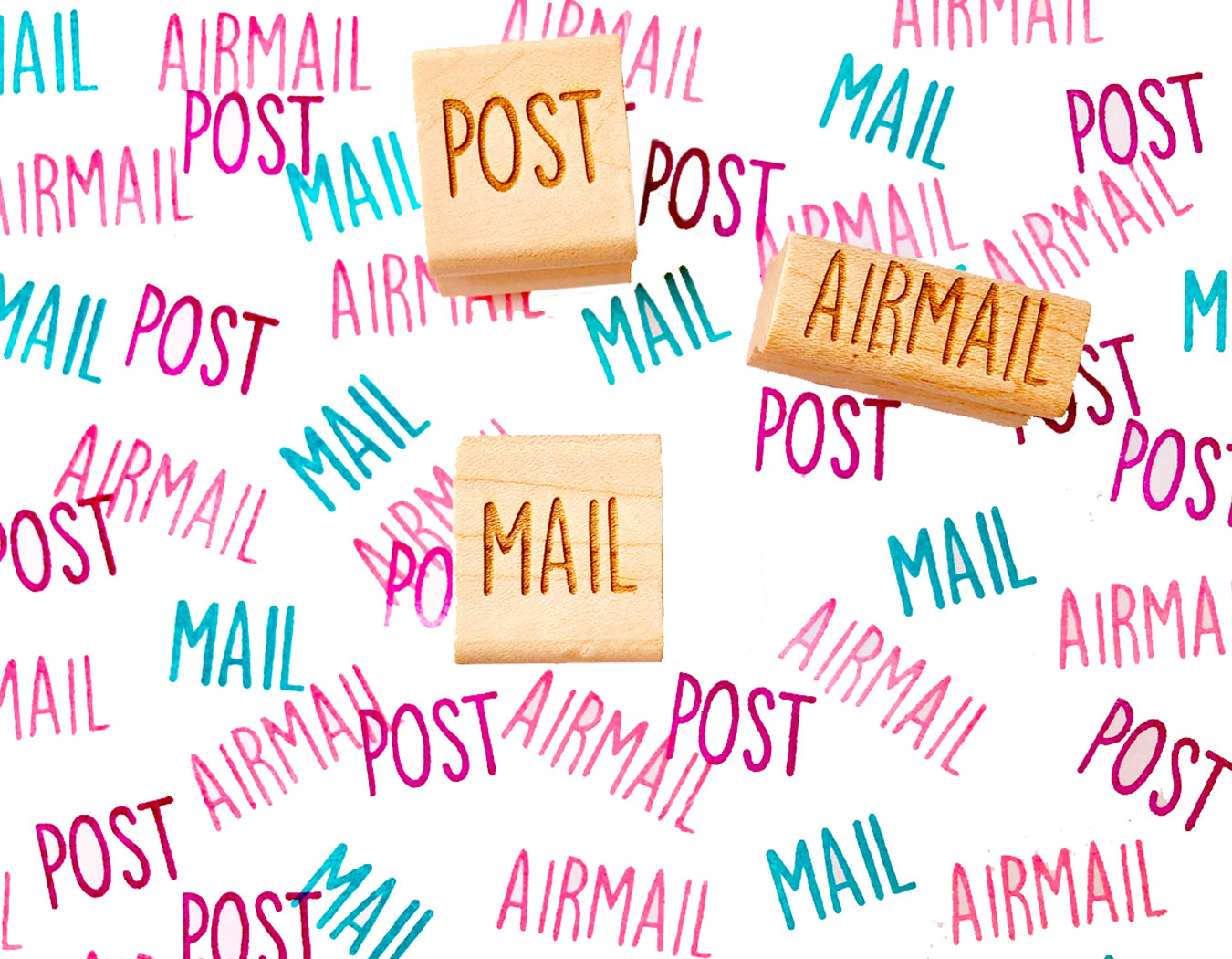 Snail Mail stamps | airmail mail post rubber stamps | modern calligraphy text stamps for mailing, shipping, business packaging TALK TO THE SUN