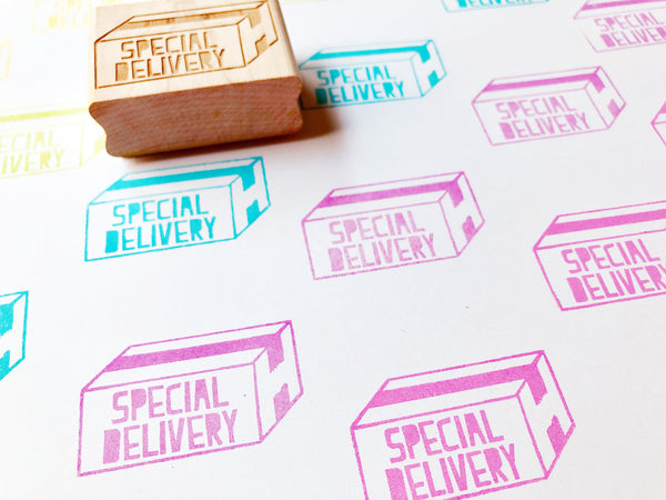 special delivery stamp | parcel rubber stamp | snail mail stamp for shipping, business packaging, mailing, gift wrapping- TALK TO THE SUN