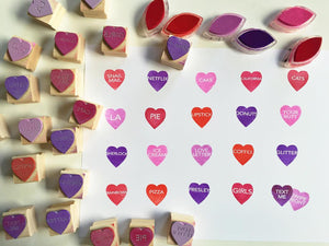 Conversation Heart Stamp