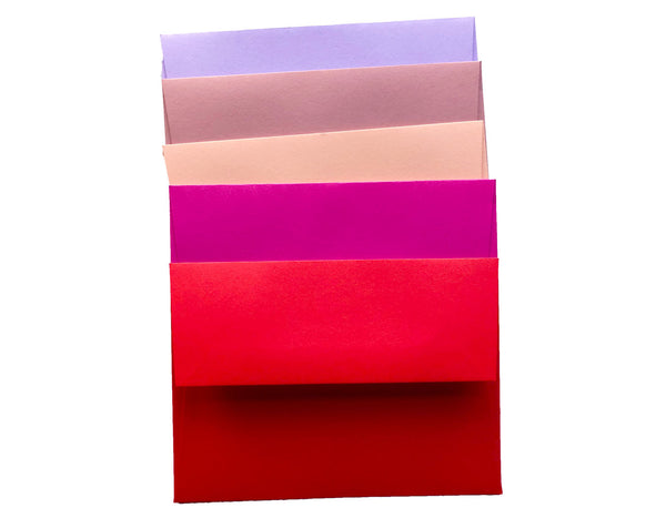 Lovey Dovey feminine BLANK CARD AND ENVELOPE 20 PACK