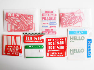 Vintage Labels + Stickers Packs
