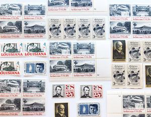 Curated Vintage Postage Stamp Collection