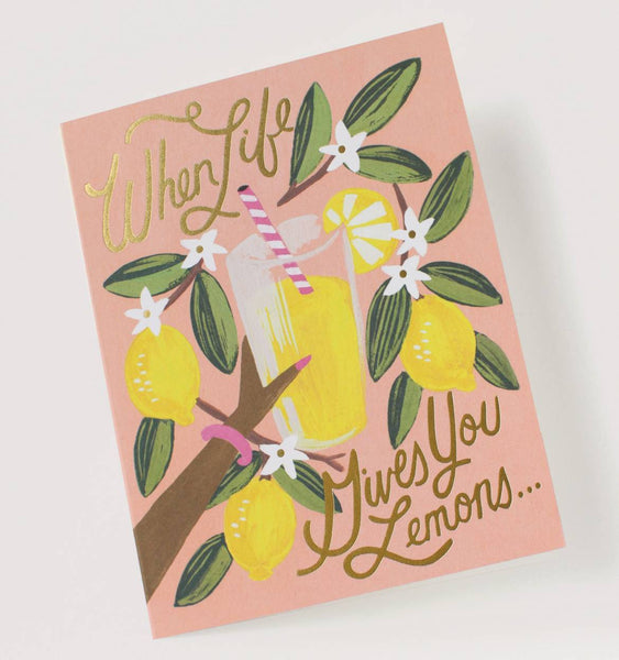 LIFE GIVES YOU LEMONS ENCOURAGEMENT GREETING CARD