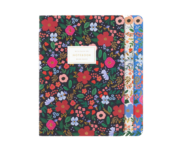 Wild Rose Stitched Notebook Set by Rifle Paper Co