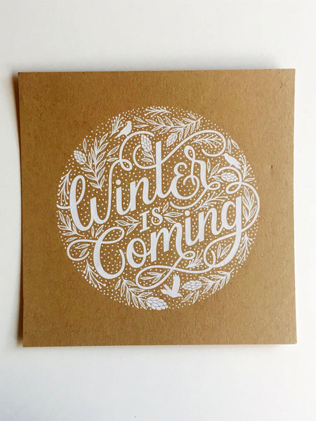 Winter is Coming Game of Thrones Print