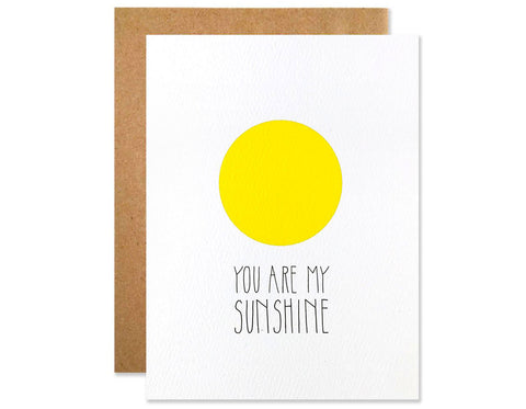 neon yellow circle text reads you are my sunshine