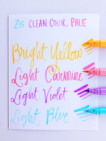 Zig Clean Color Real Brush Pen Sets