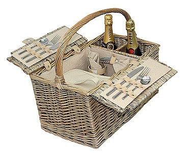 Willow Direct 2 Person Antique Wash Finish Picnic Basket