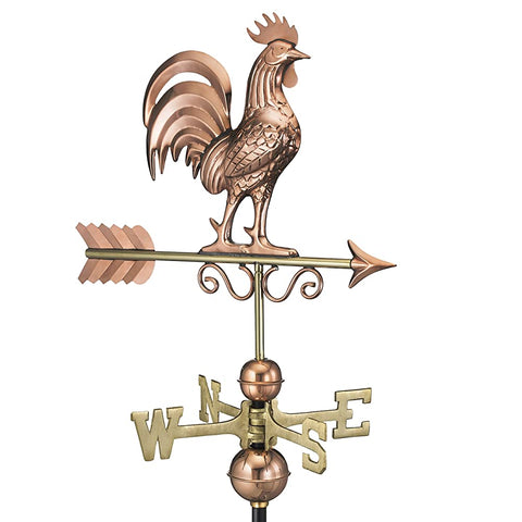 Bantam Rooster Copper Farmhouse Weathervane