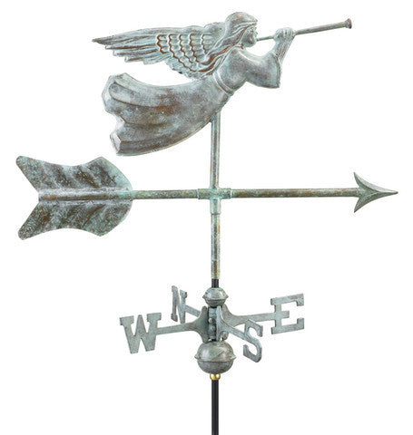 Angel Copper Verdigris Cottage Weathervane