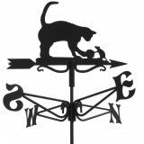 Cat and Mouse Traditional Weathervane