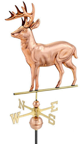 Deer Copper Farmhouse Weathervane