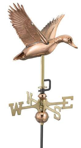 Flying Duck Copper Cottage Weathervane