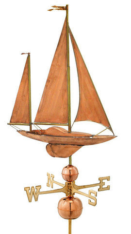 Large Sailboat Copper Manor Weathervane