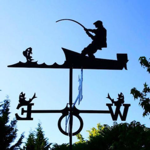 Large Angler Design Europa weathervane