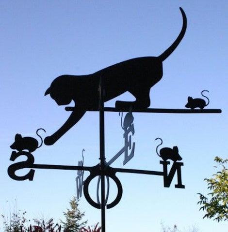 Large Cat and Mouse Design Europa Weathervane