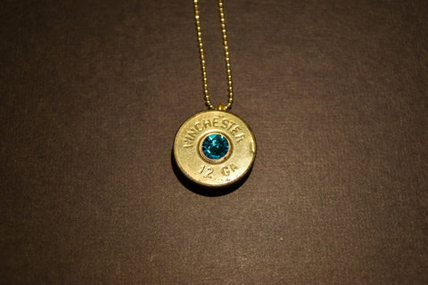 12ga Shot Shell with Swarovski Crystal