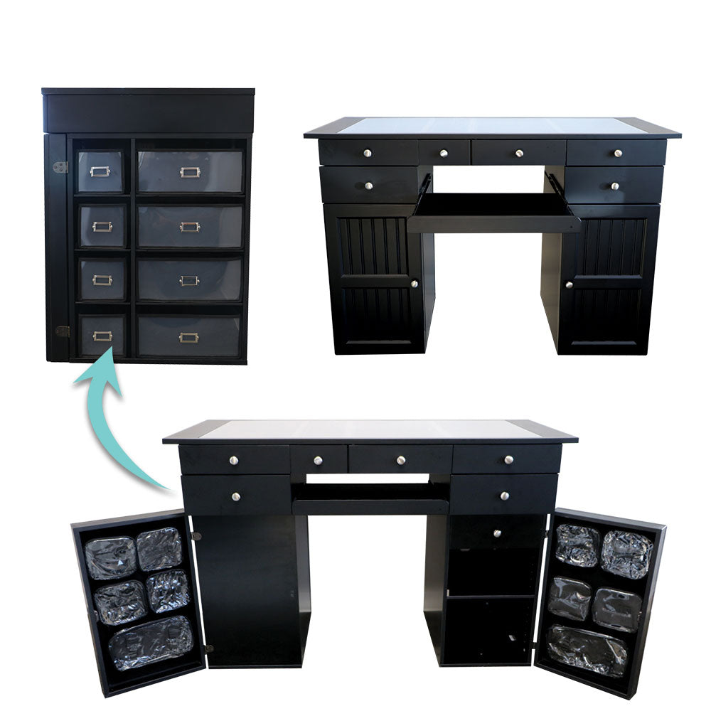 EZ View Desk - Velcro doors with pouches (Price excludes Shipping & GST)