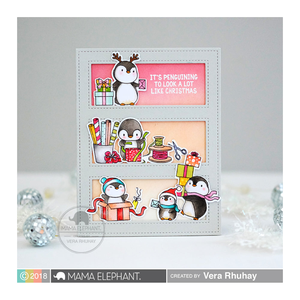 Mama Elephant - Stamp & Die Set - Cool Penguins