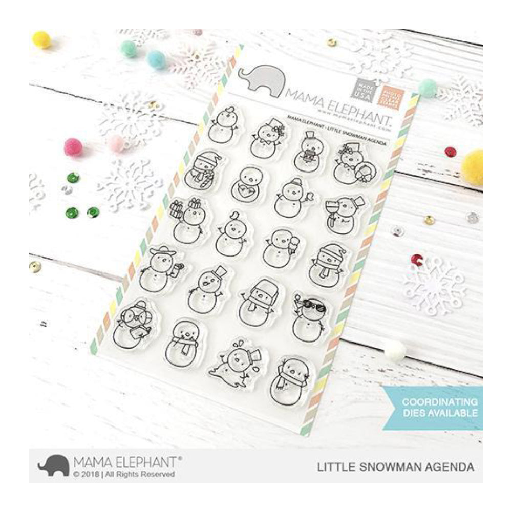 Mama Elephant - Stamp & Die Set - Little Snowmen Agenda
